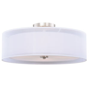 Nuage Satin Nickel 24-Inch Four-Light Semi-Flush Mount