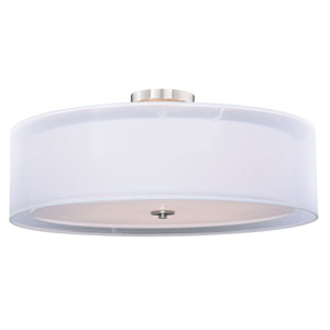 Nuage Satin Nickel 30-Inch Six-Light Semi-Flush Mount