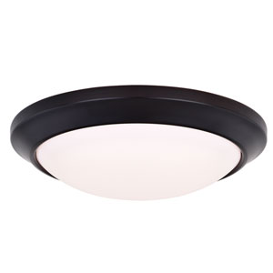 Leo Oil Burnished Bronze 16-Inch LED Bluetooth Flush Mount