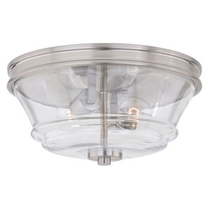 Toledo Satin Nickel 13-Inch Flush Mount