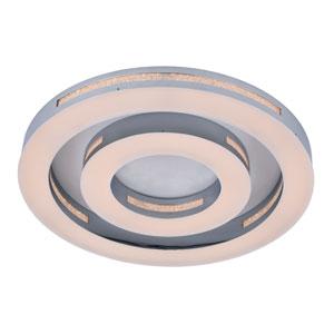 Coronal Chrome 18-Inch LED Flush Mount