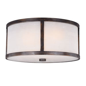 Lumos Sterling Bronze 16-Inch Three-Light Flush Mount