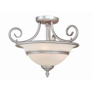 Da Vinci Brushed Nickel Semi-Flush Ceiling Light