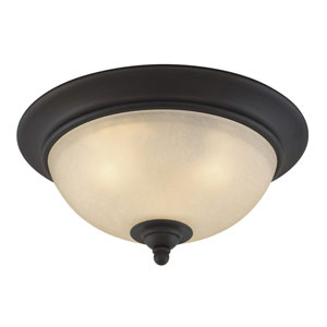 Avalon Oil Burnished Bronze Three-Light 15-Inch Ceiling Light