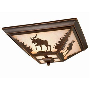 Yellowstone Moose Ceiling Light