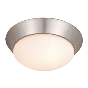 Tertial Brushed Nickel 14-Inch Flush Mount