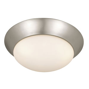 Tertial Brushed Nickel Three-Light 17-Inch Flushmount