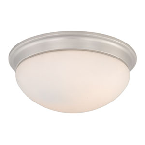 Oxford Brushed Nickel Three-Light 16-Inch Flushmount