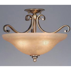 Monrovia Brass Convertible Semi-Flush Ceiling Light