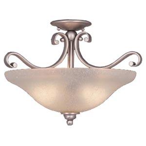 Monrovia Brushed Nickel Convertible Bowl Pendant