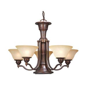 Standford Royal Bronze Six-Light Chandelier