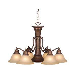 Standford Six-Light Chandelier with Downlight
