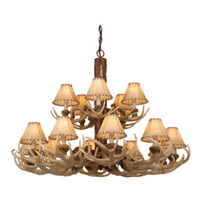 Lodge Noachian Stone Fifteen-Light Chandelier