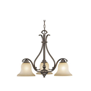 Monrovia Royal Bronze Three-Light Chandelier