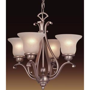Monrovia Brushed Nickel Four-Light Chandelier