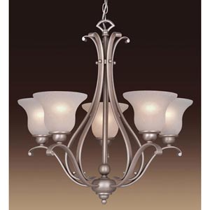 Monrovia Brushed Nickel Five-Light Chandelier