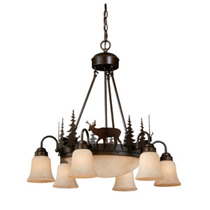 Bryce Burnished Bronze Nine-Light Chandelier