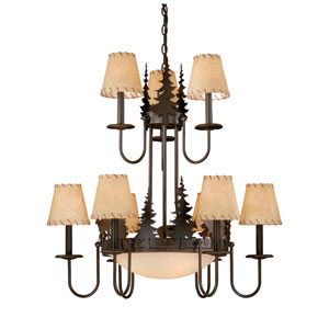 Bryce Burnished Bronze Chandelier