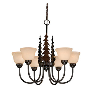 Bryce Burnished Bronze Six-Light Chandelier