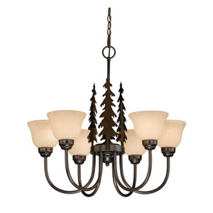 Yosemite Burnished Bronze Six-Light Chandelier