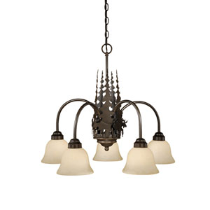 Yellowstone Burnished Bronze Five-Light Chandelier