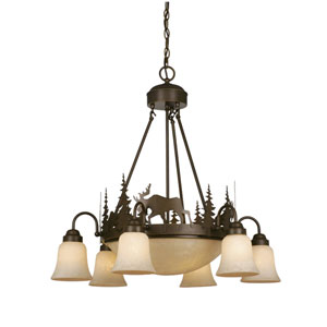 Yellowstone Burnished Bronze Nine-Light Chandelier