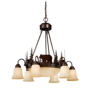 Bozeman Burnished Bronze Nine-Light Chandelier
