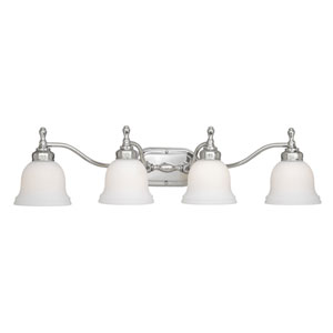 Cologne Chrome Four-Light Vanity