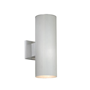 Chiasso Satin Aluminum Two-Light 5-Inch Outdoor Wall Light