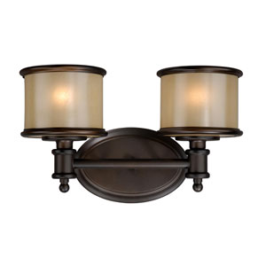 Carlisle Noble Bronze Two-Light Vanity
