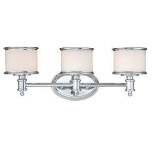 Carlisle Chrome Three-Light Vanity