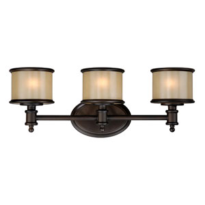 Carlisle Noble Bronze Three-Light Vanity