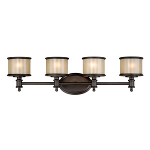 Carlisle Noble Bronze Four-Light Vanity