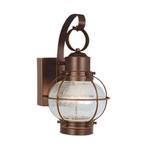Chatham Burnished Bronze Three-Light 6-1/2-Inch Led Outdoor Wall Light