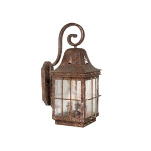 Edinburgh Colonial Iron Three-Light Outdoor Wall Light