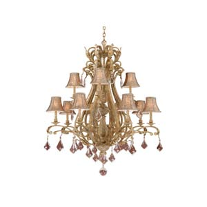 Empire Phoenician Platinum Twelve-Light Chandelier