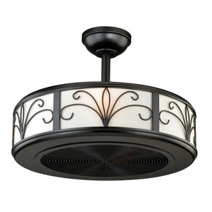 Veranda New Bronze Four-Light Drum Ceiling Fan