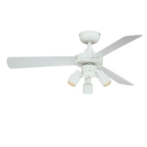 Cyrus White Three-Light Ceiling Fan
