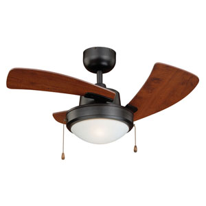 Wolcott New Bronze One-Light Ceiling Fan