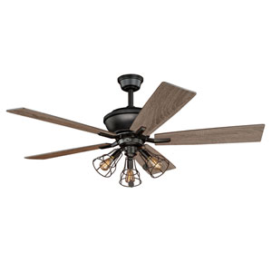 Clybourn Bronze Three-Light Ceiling Fan