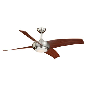 Racine LED Satin Nickel One-Light Ceiling Fan