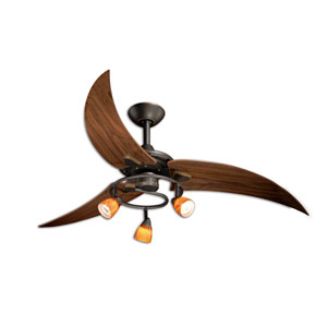 Picard Oil Rubbed Bronze Three-Light 48-Inch Ceiling Fan