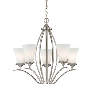 Sonora Five-Light Satin Nickel Chandelier