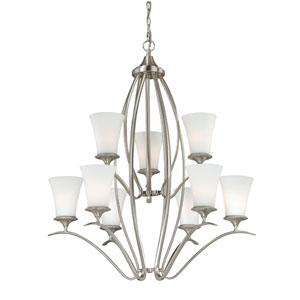 Sonora Nine-Light Satin Nickel Chandelier