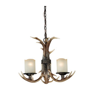 Yoho Three-Light Black Walnut Chandelier