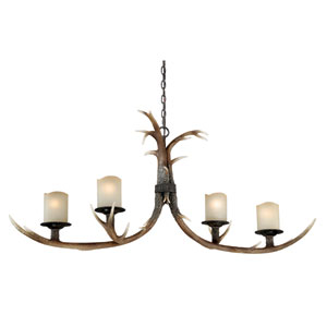 Yoho Four-Light Black Walnut Chandelier