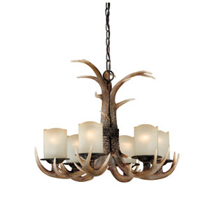 Yoho Six-Light Black Walnut Chandelier