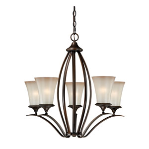 Sonora Five-Light Venetian Bronze Chandelier