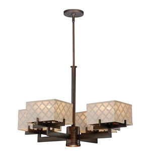 Arabesque Venetian Bronze Five-Light Chandelier