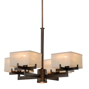 Canvas Venetian Bronze Five-Light Chandelier